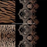 100%Polyester le léopard courant Pigment&Disperse a estampé le tissu pour le jeu de literie