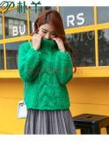 Свитер шлямбура Knit кабеля девушок руки высокого качества коренастый