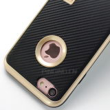 iPhone 6s及び7plusのための細い適合の耐震性のハイブリッド立場の堅く豊富で柔らかいケース