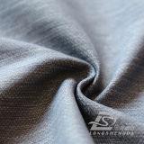 agua de 75D 250t y de la ropa de deportes tela negra tejida chaqueta al aire libre Viento-Resistente 100% del filamento del hilado del poliester rayado del telar jacquar abajo (FJ020N)