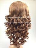 Perruque synthétique de cheveu de Brown pour la sensation de cheveux humains de femme
