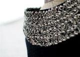 Alineada uniforme del animal doméstico del cuello de lujo de la joyería de la ropa del partido del perro del diseño