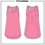 Fabrik-Preis-Frauen-Sommer-Sport-Kleidung übersteigt Gymnastik-Trägershirt