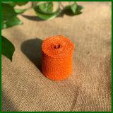 Venta al por mayor de color Jute Hessian paño Roll (naranja)