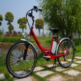 Klassisches 26 '' 36V 250W Frauen-Stadt-Straßen-elektrisches Fahrrad