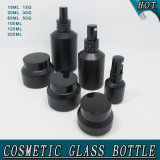 Guangzhou Cosmetic Emballage de bouteille en verre Matt Black Slant Shoulder Glass Spray Bottles Cream Jars
