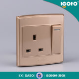 1gang 13A Switched Socket Electric Switch en Socket
