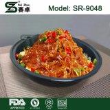 Schwarzer Plastikmaterial-Mitnehmernahrungsmittelbehälter des mikrowellen-Nahrungsmittelbehälter-pp. mit freier Kappe