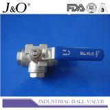 Válvula de bola de 3 vías con soporte de montaje directo 1000wog