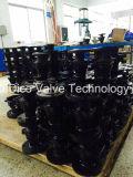 Valvola a sfera Port piena della flangia del acciaio al carbonio con il rilievo di montaggio