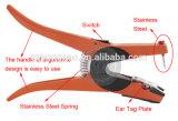 耳札の穴あけ器の識別