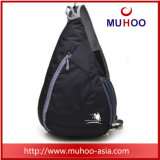 Outdoor Waterproof Black Doled Triangle Day Pack Bolsa de esportes Mochila