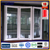 Балкон деревянного цвета алюминиевый сползая дверь складчатости Bi