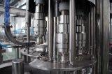 Cadena de producción de relleno en botella de llavero del agua mineral