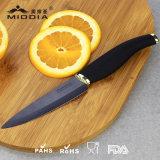 Нож плодоовощ Zirconia качества керамический с черным лезвием