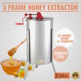 Fileur électrique de nid d'abeilles d'extracteur de miel d'extracteur manuel de miel de 3 bâtis