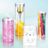 Tubos de presente promocionais Clear Cilindro de plástico para animais de estimação
