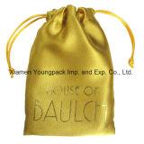 Sac de luxe de empaquetage de bijou de poche de cadeau de tissu de satin de sac de portable de sac de petit de cordon estampé par coutume promotionnelle d'organza d'emballage de sac de mode bijou de velours