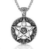 Hombres y mujeres pendientes de la joyería de la manera del collar de acero Titanium de la estrella de Lucy