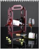 Шкаф вина 6 бутылок деревянный для украшения штанги хранения и партии бутылки вина