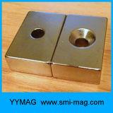 De Magneet van het Neodymium van het blok met Gaten