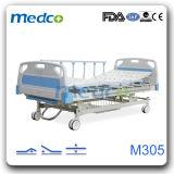 병원 가구, 의학 침대, 3개의 크랭크 Ce&ISO를 가진 환자를 위한 수동 병상