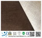 Material poliester clásico llano de lino de la tela de sofás y tapicería