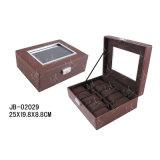 Klein- u. Großhandelsleder PU-Geschenk-Verpackungs-Kasten-Uhr-Kasten-Uhr-Kasten-hölzerner Kasten