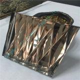 Luz - vidro alaranjado do vidro laminado/arte/vidro de vidro/decorativo cinzeladura elétrica com espelho