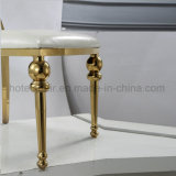 Aço inoxidável do ouro moderno da mobília do quarto do estilo que janta a cadeira