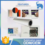 Fast Dry Roll Sublimation Paper 70g para Textile