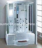 Sauna à vapeur rectangulaire de 1400 mm avec baignoire et douche (AT-G8336F)
