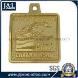カスタマイズされたロゴの彫版が付いているスポーツメダル