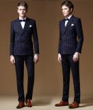 3 Stück-italienische Bräutigam-Form-Streifen-Hochzeits-Klage für Männer