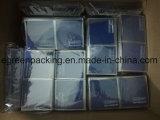 파란 색깔 Microfiber 유리 청소 피복 개별적인 패킹