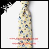 Laço Handmade da flor da forma do jacquard da seda de 100% para homens
