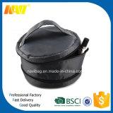 黒いナイロン二重ジッパーシリンダー装飾的な構成の洗面用品袋