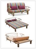 ベッド付きの水平に口を空けるか、または金属の大きいサイズSafaの折るソファーベッド