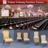Heißer Verkaufs-bequemer stapelnder Aluminiumhotel-Stuhl für Lebesmittelanschaffung (YC-B88)