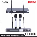 Fk-500 microfone profissional Best-Selling do rádio da freqüência ultraelevada do sistema de som 2.4G