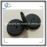 2016 наиболее поздно бирка прачечного пластичной малой кнопки 13.56MHz Washable RFID 15mm с 2 отверстиями