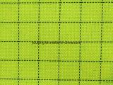 100%年のポリエステルあや織りの伝導性の格子縞のオックスフォードファブリック