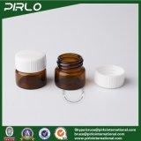 mini Brown fiale liquide mediche di vetro di 5ml con le bottiglie chimiche di vetro con tappo a vite bianche
