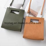 Sacchetto di cuoio Hcy-A909 della signora mano dell'unità di elaborazione di svago delle 2016 borse della spalla popolare mini