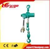 Élévateurs à chaînes pneumatiques avec le crochet 0.5t de suspension