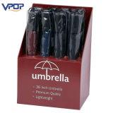 Einfacher Montage-gewölbtes Papier-Kostenzähler-Ausstellungsstand für Regenschirm