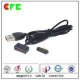 Zoll4pin Pogo Pin-magnetischer Kabel-Verbinder für Mobiltelefon