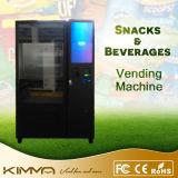 Máquina de Vending a fichas da tela de toque para o alimento enlatado e as bebidas