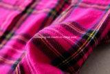 Camicia di plaid rossa delle donne della Rosa