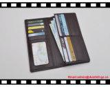 機能RFIDの妨害を用いる人のための柔らかい実質の革長い財布